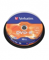 Verbatim DVD-R (4.7GB) 16x (10pcs in Spindle) [Cake Box]